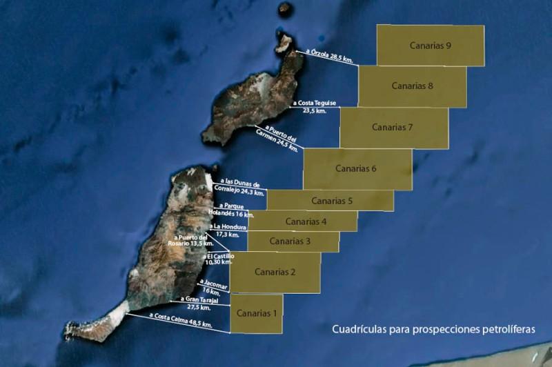 cuadriculas para prospecciones petroliferas